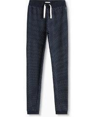 Esprit Pantalon en coton molletonné à pois