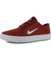 Skate boty Nike SB Portmore dět. červená/bílá