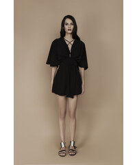 Charina Sarte Robe Noire Courte - Audrey