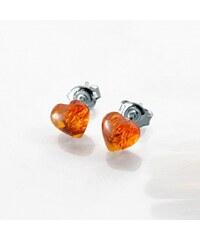 Blancheporte Boucles d'oreilles cur argent ambre
