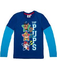 Paw Patrol Langarmshirt blau in Größe 98 für Jungen aus 100% Baumwolle