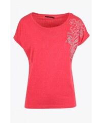 SAM 73 Dámské melírované tričko s ornamentem WT 607 red - červená