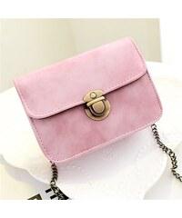 Lifestyle kabelka s řetízkem růžová