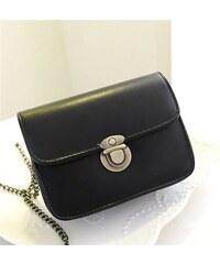 Lifestyle kabelka s řetízkem černá