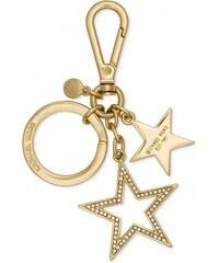 Zlatá klíčenka přívěsek na kabelku Michael Kors star pavé