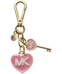 Zlatá klíčenka Michael Kors Enamel heart rose