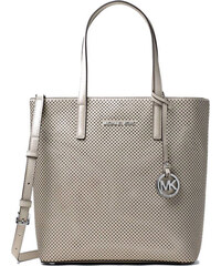 Michael Kors kabelka Hayley medium perforated leather north south tote cement