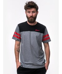 Patriotic Tag Neck Grey Black Red