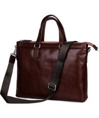 Delton Bags Kožená taška City Tan L7-8-4727