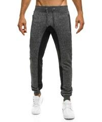 Street Star Vzorované tmavě šedé teplákové baggy kalhoty STREET STAR 77017