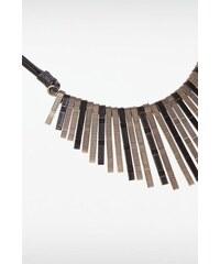 Collier femme effet rayons Noir Metal - Femme Taille TU - Bonobo