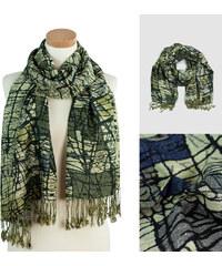 Lesara Schal mit Muster & Fransen