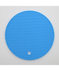Lesara 2er-Set 2-in-1-Topflappen & Untersetzer aus Silikon - Blau