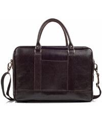 Kožená taška na notebook Solier SL02 hnědá