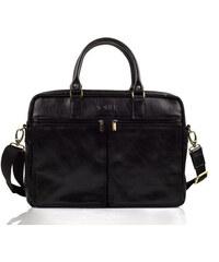 Kožená taška Solier SL01 černá