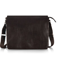 Messenger bag Solier S11 tmavě hnědý