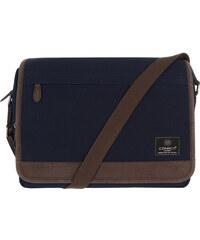 Conkca Fitzrovia modrý plátěný messenger bag