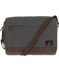 Conkca Fitzrovia šedý plátěný messenger bag