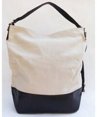 Plátěná dámská kabelka, Barva Béžová pl1