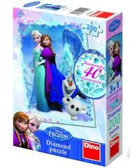 Dino Puzzle Frozen 33 x 47 cm 200 dílků diamanty+lepidlo