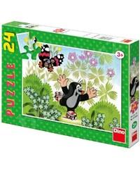 Dino Puzzle Krtek na bruslích 24 dílků