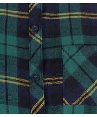 New Look Teenager - Grün kariertes langärmliges Hemd