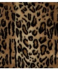 New Look Brauner Kunstpelzmantel mit Leopardenmuster