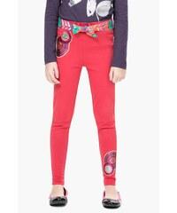 Desigual červené dívčí kalhoty Honey