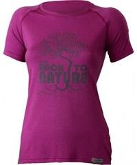 Lasting Dámské vlněné merino triko BACK 4848 růžová