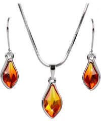 Troli Sada náušnic a náhrdelníku Flame Fireopal
