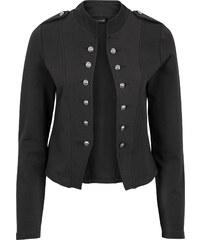 BODYFLIRT Blazer sweat avec boutons décoratifs noir femme - bonprix