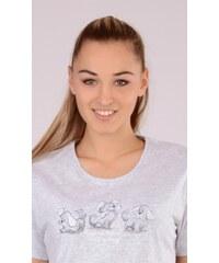 Vienetta Dámská noční košile s krátkým rukávem Štěňata