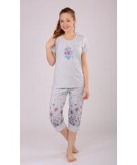 Vienetta Dámské pyžamo kapri Květy
