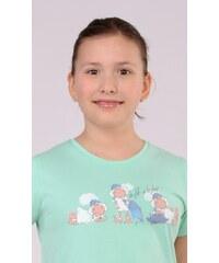 Vienetta Kids Dětská noční košile s krátkým rukávem Malé ovce