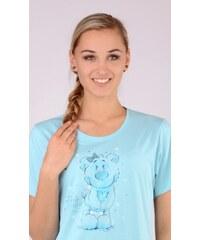 Vienetta Dámská noční košile s krátkým rukávem Méďa Thank you