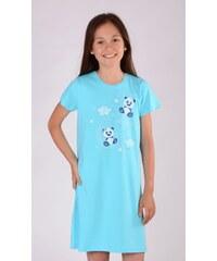 Vienetta Secret Dětská noční košile s krátkým rukávem Méďové