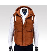 Ombre Clothing pánská vesta Bishop hnědá