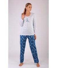 Vienetta Dámské pyžamo dlouhé Sněhulák na horách