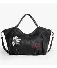Desigual černá kabelka Rotterdam Black Daisy