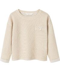 MANGO KIDS Metallic-Baumwoll-Sweatshirt
