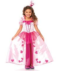 Leg Avenue Prinzessin Kostüm mit Herzen - Kinder (2-tlg.), Gr. XS (98-104) -S (110-122) in pink für Mädchen von bonprix
