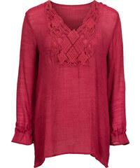 BODYFLIRT lange Bluse in rot von bonprix