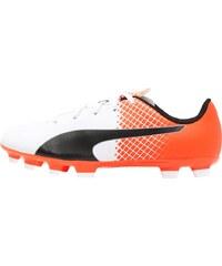 Puma EVOSPEED 5.5 TRICKS AG Chaussures de foot à crampons white/black/shocking orange