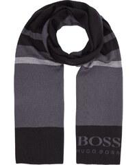 Boss Green Schal mit Streifen und eingestricktem Logo