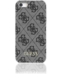 Pouzdro / kryt pro Apple iPhone 5 / 5S / SE - Guess, 4G Uptow Back Grey