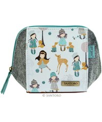 Santoro London - Pouzdro/Kosmetická taška - Gorjuss Traveller - Woodland