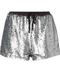 Glamorous Shorts mit Besatz aus Wende-Pailletten