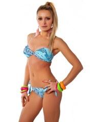 H natalie Modré plavky s kytičkami