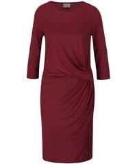 Vínové šaty s 3/4 rukávem Vero Moda Monica