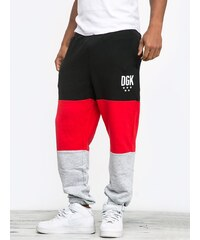 DGK Fast Brake Fleece Pant Black Red Athletic Heather